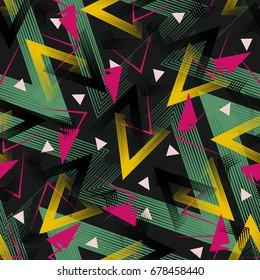 80's style seamless pattern