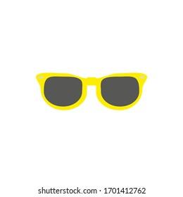 80s sunglasses on white background vector