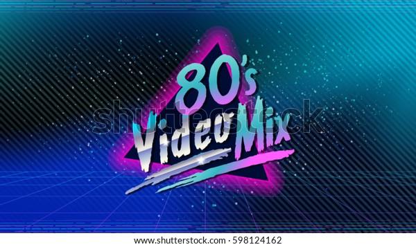 80s Video Mix Retro Style Disco Stock Vector (Royalty Free