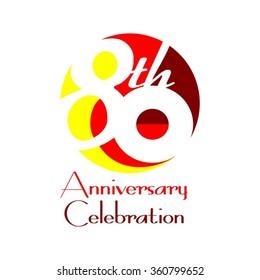 80th Anniversary Celebration - Birthday - Reunion Logo Vector Design