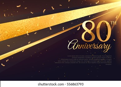 80th anniversary celebration card template