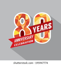 80th Years Anniversary Celebration Design