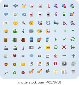 81 various internet and application icons