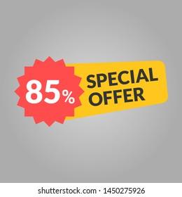 85% off sale banner vetkor