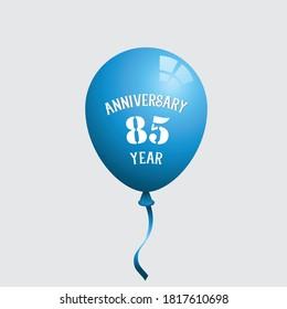 85 Years Anniversary Celebration Vector Template Design Illustration