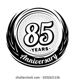 85 years anniversary. Anniversary logo design. 85 years logo.