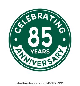 85 years anniversary logo template. Vector and illustration.
