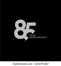 85 Years Anniversary Vector Template Design Illustration