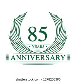 85 years design template. 85th anniversary. Vector and illustration.