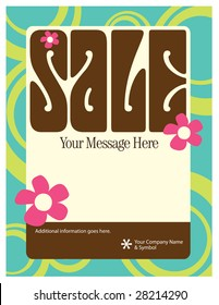 8.5x11 Seventies Style Flyer/Poster Template