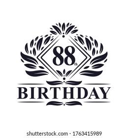 88 years Birthday Logo, Luxury 88th Birthday Celebration.