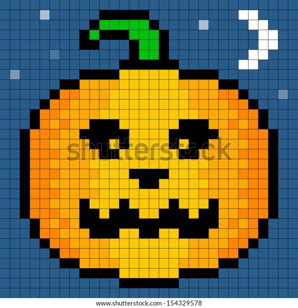 Image Vectorielle De Stock De 8bit Pixel Art Halloween
