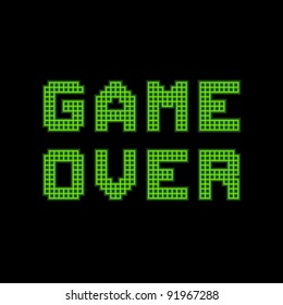 8-bit Pixel Game Over Message