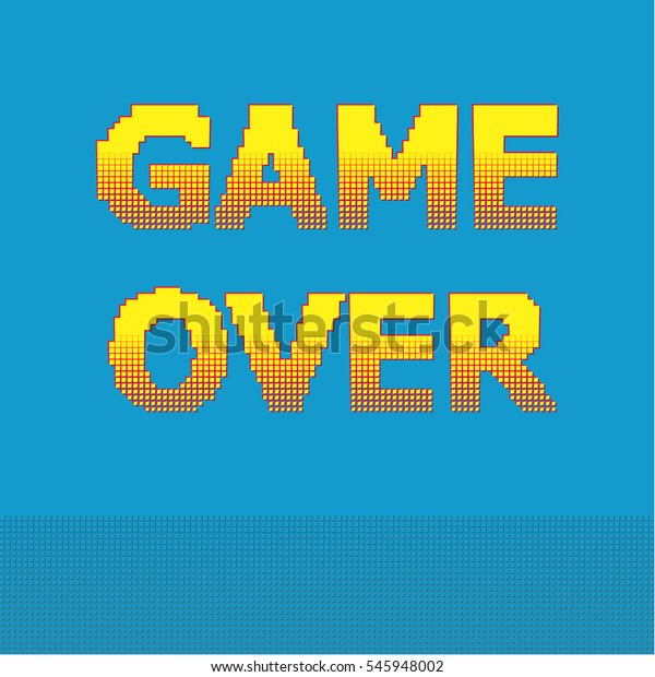 Vetor Stock De 8bit Pixel Game Over Message Designs Livre