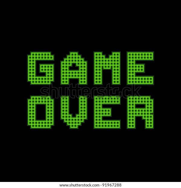 8-bit Pixel Game Over Message