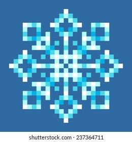 8-Bit Pixel Snowflake
