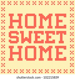 8-bit Pixel-Art Home Sweet Home Mat