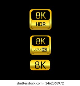 8K label set technology display