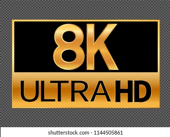 8K resolution icon for web and mobile
