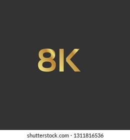 8K Ultra HD label. golden emblem