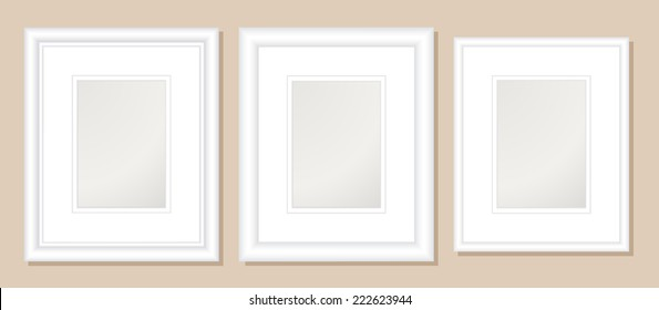 8x10  Double Mats & Frame for 5x7 Photo Art.;3 frame widths: .5, 1, & 1.5 inch. Fully customizable.