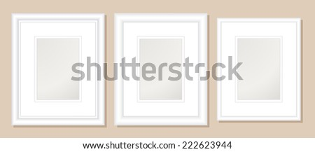 8 X 10 Double Mats Frame 5 X 7 Photo Stock Vector Royalty Free