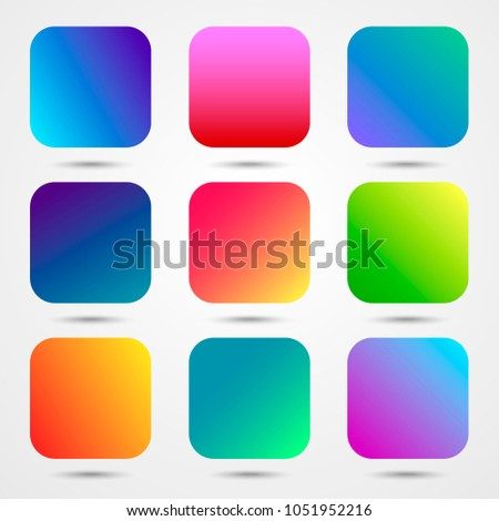 9 app icons gradient backgrounds vector stock vector royalty free