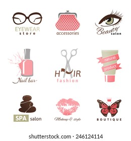 9 beauty and fashion logo templates