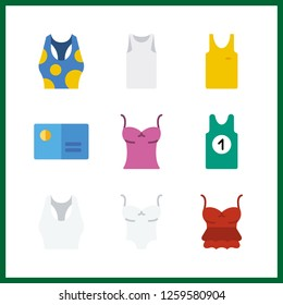 9 brand icon. Vector illustration brand set. sleeveless and tank top icons for brand works