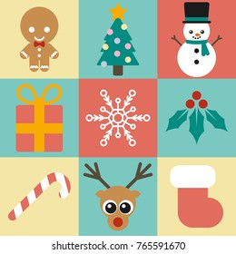 9 Cute Christmas icons for any design project