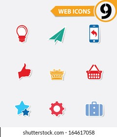 9 Easy icons,vector