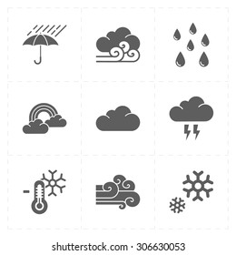 9 flat modern weather icons