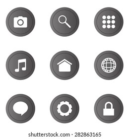 9 icons set for web and mobile phone.