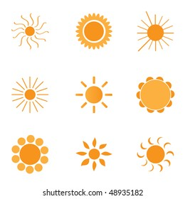 9 logos and icons: Sun