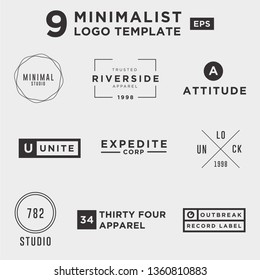 9 Minimalist and Clean Logo Template