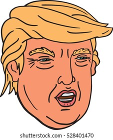 Image of: Clipart Vector Illustration Of Portrait Of Us Presidentelect Donald Bored Panda Donald Trump Cartoon Images Stock Photos Vectors Shutterstock