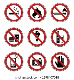 9 Prohibition & Warning Signs - Iconset (Icons)