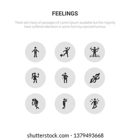 9 round vector icons such as ecstatic human, emotional human, energized human, excited exhausted contains fantastic fat free fresh ecstatic emotional icon3_, gray feelings icons