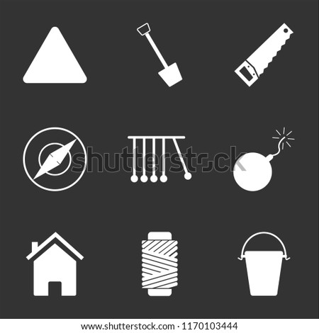 9 Simple Transparent Vector Icon Pack Stock Vector (Royalty Free
