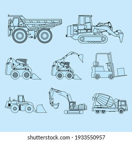 9 vector set of Tractor  logo template collection, suitable for any business related to farm industries. Simple and retro look.