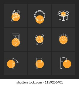 9 Web Icon set