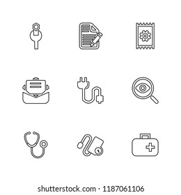 9 Web Icon set