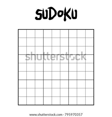 9 X 9 Blank Sudoku Game Stock Vector Royalty Free 795970357