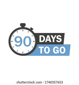 90 days to go icon.