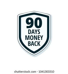 90 Days Money Back Shield illustration