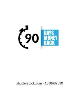 90 Days money back sign - emblem, label, badge,sticker, logo. Designed for your web site design, logo, app, UI
