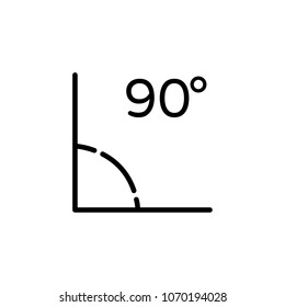 90 Degrees Angle Vector Icon Illustration For Web And Mobile App.Ui/Ux.