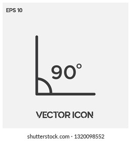 90 degrees angle vector icon illustration For Web And Mobile App. Ui/Ux. Premium quality.