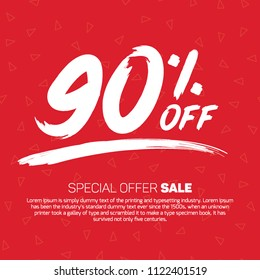 90 Percent off 90% Discount Sale Off big offer 90% Offer Sale Special Offer Tag Banner Advertising Promotional Poster Design Vector Offers Mobile Fashion Electronics Home Appliances Books Jewelry