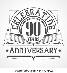 90 Years Anniversary Celebration Design.